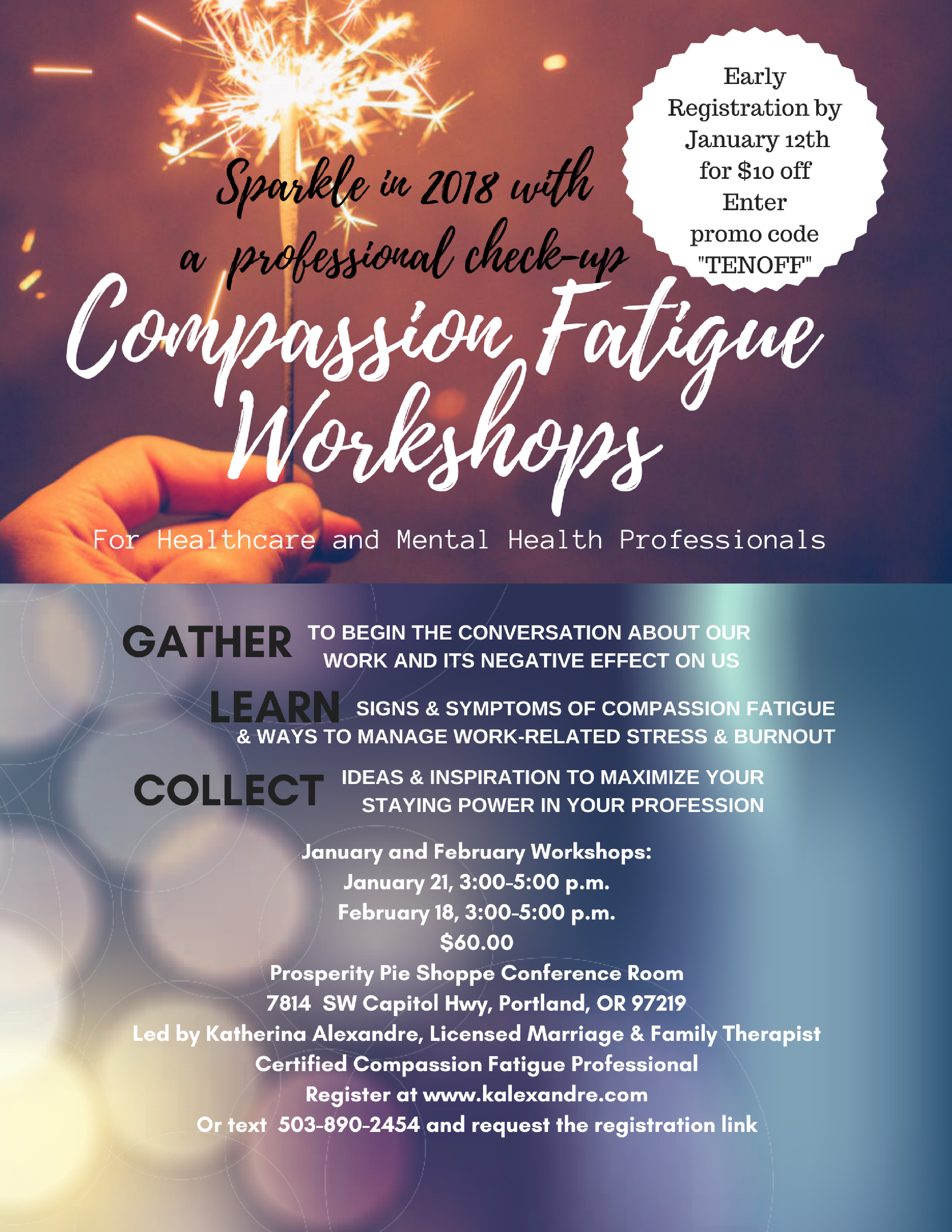 compassion fatigue workshop sparkle in 2018 with a professional